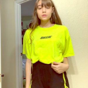XL 1st Billie elvish merch drop neon green shirt